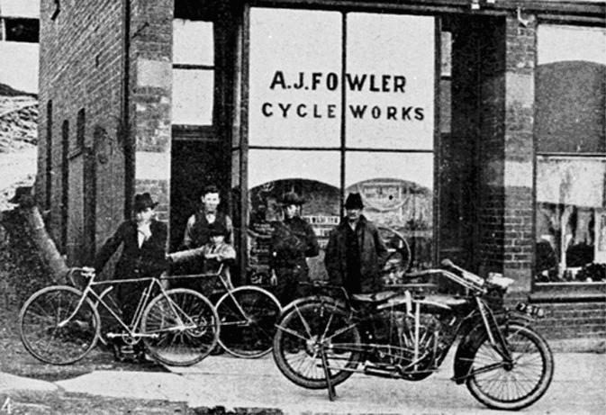 A J Fowler Cycle Works c.1917